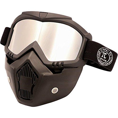 PI Wear Invase verspiegelt☀ Brillen-Maske, Goggle-Mask, Paintball Maske (Brille Thermal Paintball Maske)