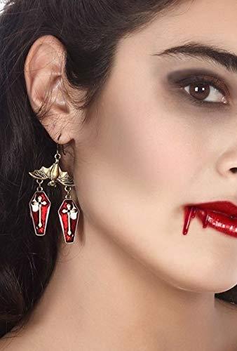 Kostüm Sarg Vampir - Fancy Me Damen Vampir-Sarg Ohrringe Halloween Kostüm Outfit Schmuck Zubehör