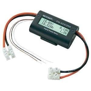 Afficheur LCD VOLTCRAFT PM-60V/20A Tension : 5,00 - 60,00 V/DC, 0,00 - 60,00 V/DC (avec tension d'alimentation externe)