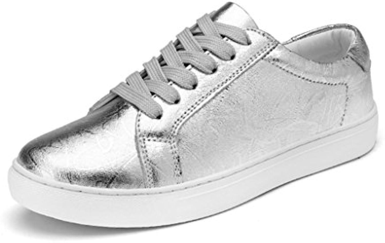 939f32748d les chaussures de sport hwf tôles plats en en en argent occasionnelles au  printemps b079z17j8d chaussures femmes parent un iqu e marée | Réputation  D'abord ...