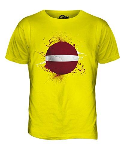 CandyMix Lettland Fußball Herren T Shirt Zitronengelb