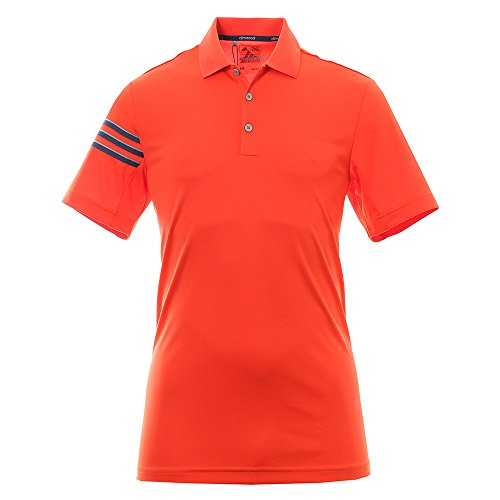 adidas Herren Climacool 3 Stripes Polo Poloshirt, Energy, XL (Golf Polo Climacool)