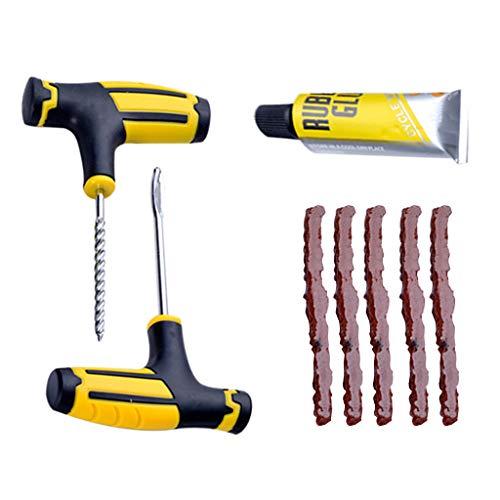 Reifenreparatur, LeeMon Vakuumreifen Auto schlauchloser Reifen Reifenpannungsreparatur-Stecker Reparatur-Kit Nadel Patch Fix Tool (Mehrfarbig)