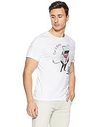 LP Jeans By Louis Philippe Men's Solid Slim Fit T-Shirt - B078HTL3JZ