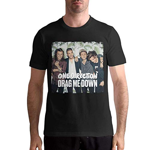 One Direction Mens Short Sleeve Shirt,Black,4XL