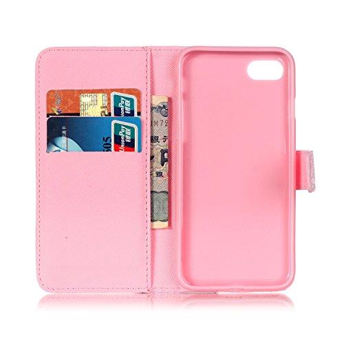 TIODIO® Housse en cuir Pour Apple iphone 7/ iphone 7G PU étui en cuir / case/ coque/ cover/ housse avec la fonction de stand+1 x Stylet+1 x film de protection d'écran, C01 C05