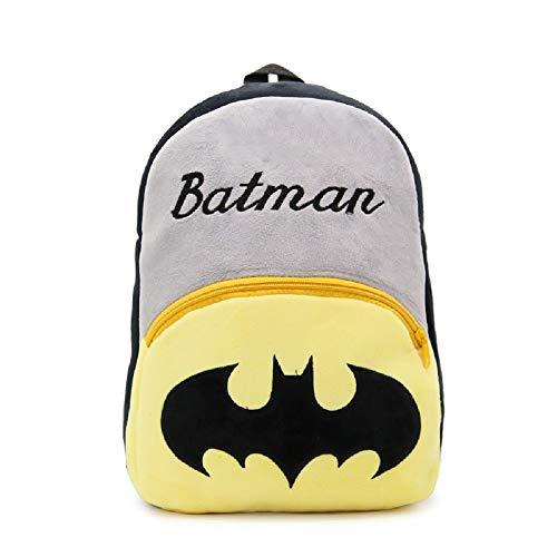 CHDJ - Zaino per bambini da 4 a 6 anni, in peluche Nero Batman 4/6 anni