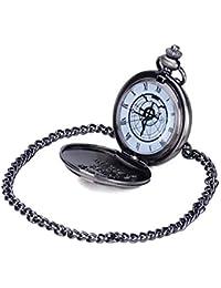 Fullmetal Alchemist Edward Elric Reloj de bolsillo gris oscuro