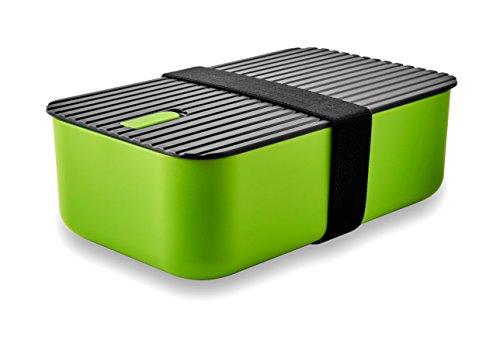 LeOx- Lunchbox Bento Box Brotdose Aufbewahrungsdose Lunchbox Kinder Essen to go Food Container Lunchbox mit Trennwand Lunchbox zwei Fächer (grün)