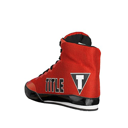TITLE Bout Champ Exploit Boxing Shoes, Red, 5