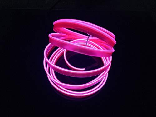 5M Neon Light El Wire mit USB Neon Glowing Strobing Electroluminescent Wire für Parteien Halloween Weihnachten Weihnachtsfest Dekoration(Rosa)