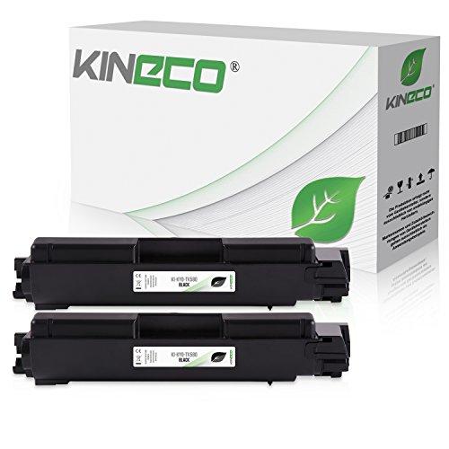 2 Toner kompatibel zu Kyocera TK580K ECOSYS P6021 CDN FS-C 5150 DN - 1T02KT0NL0 - Schwarz je 4.000 Seiten