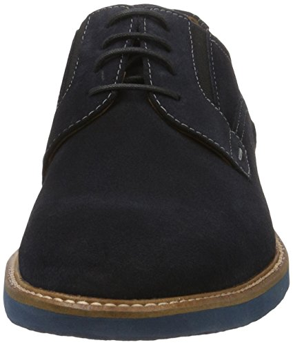 LLOYD Ron Extra-Weit, Derby Homme Bleu (Black Waterproof)