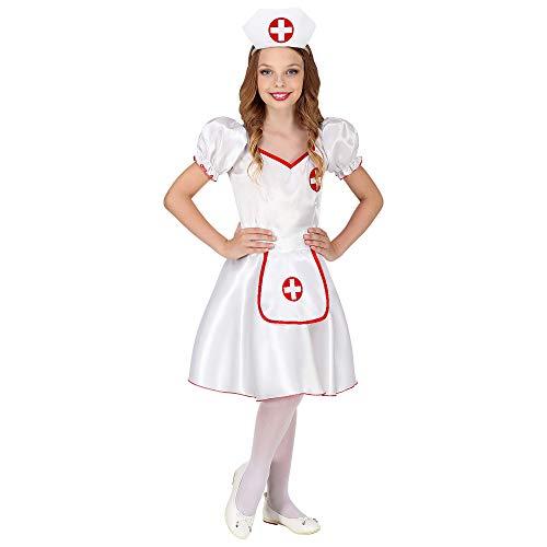 WIDMANN 85876 Kinderkostüm Krankenschwester Mädchen Weiß, Rot ()