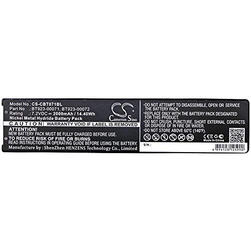 Batterie 2000mAh / 14.40Wh 7.2V Ni-MH-Kranfernbedienungsbatterie kompatibel für Cattron Theimeg Fit Modell handlich, TC100 Hohe Kapazität ( Farbe : Schwarz , Größe : 159.30 x 35.30 x 20.70 mm )