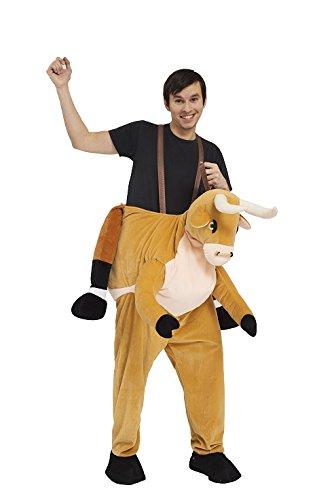 Monster Huckepack Kuh Stier Bulle Ochse Kostüm Unisex Erwachsene Karneval 50008 JGA (Kuh Und Stier Kostüme)
