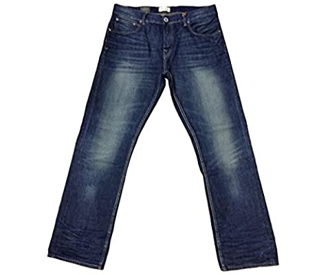 Firetrap DAAY16 Rom-G2 Signet Wash Jeans Stanton Regular Straight Designer Jean Mens Smart Blue Casual (30 Short (W30