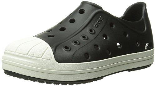 Crocs Bumper Toe Shoe Kids, Unisex-Kinder Low-Top Sneaker, Schwarz (Black/Oyster 02U), 27/28 EU