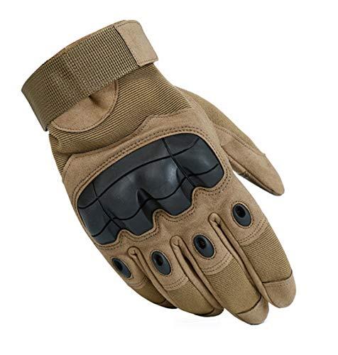 Gnzoe Handschuhe Vollfingerhandschuhe Herren Damen Touch Screen Outdoor Buchstaben Fahrradhandschuhe Rutschfest Gelb Mittel