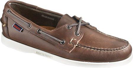 Sebago Mens Horween Docksides Boat Shoe Chocolat