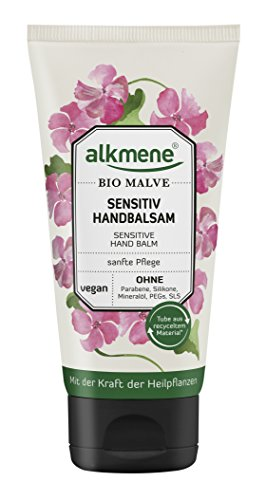 alkmene Sensitiv Handbalsam mit Bio Malve, Handcreme, für sensible Haut, 75 ml  - 3er Pack (3 x 75 ml)