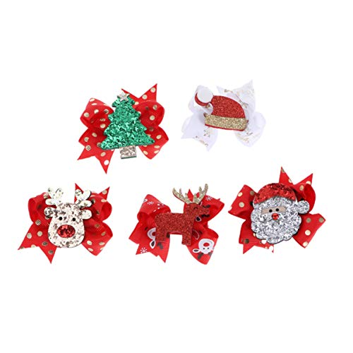Lurrose 5pcs Christmas Bow Hair ...