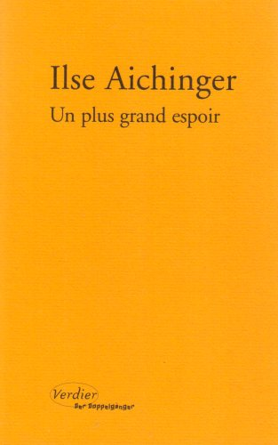 Un Plus Grand Espoir [Pdf/ePub] eBook