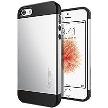 Spigen SGP10476 - Funda para iPhone 5 / 5S, Plata