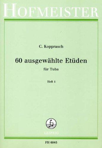 60 AUSGEWAEHLTE ETUEDEN 1 - arrangiert für Tuba [Noten / Sheetmusic] Komponist: KOPPRASCH C