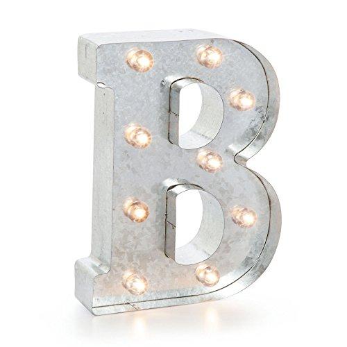 Buchstaben - B, Metall, silber, 25.5 x 19 x 5 cm (Buchstabe B Craft)