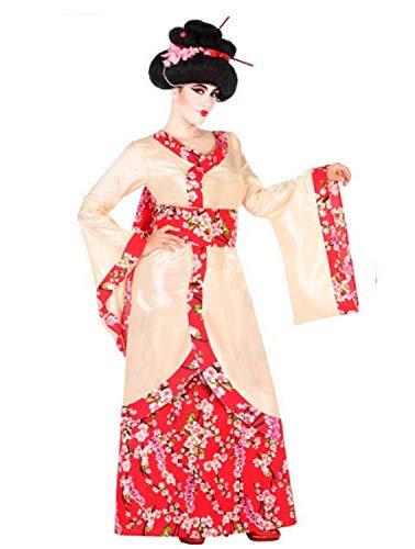 Fancy Me Damen Orientalisches Rotes Blumenmuster Geisha International Traditionelles Rund um die Welt Karneval Junggesellinnenabschied Kostüm, Outfit, UK 8-22 Übergröße