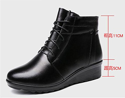 KHSKX-Ma Mère Chaussures Coton Plus D'Hiver Chaud Mère Antidérapant Chaussures Coton Snow Shoe 5Cm Et 37 Femme Chaussures Coton  Bottes Femme  Noir (585 Schwarz Micro) 40 EU  Noir (Noir)  40.5 EU czwHd