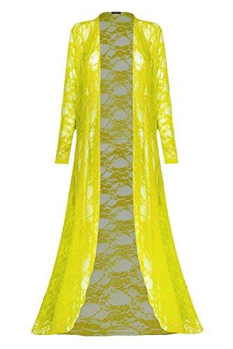 Fashion Star - Gilet - Manches Longues - Femme * Jaune