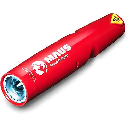 Rot-aerosol (XTIN Aerosol Feuerlöscher Rückstandsfrei 24 cm Handlich Taschenformat mit Wandhalterung)