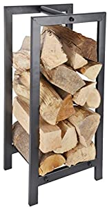 Metal Wood Log Storage Carrier Stove Fireside Accessory Log Store