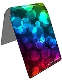 Stray Decor (Rainbow Discs) Étui à Cartes / Porte-Cartes pour Titres de Transport, Passe d'autobus, Cartes de Crédit, Navigo Pass, Passe Navigo et Moneo