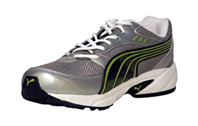 Puma Men's Storm 3.5 Silver & Lime Punch Running Shoes - 7 UK/India (40.5 EU)