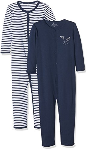 NAME IT Baby-Jungen NMMNIGHTSUIT 2P Dress Blues NOOS Schlafstrampler, Mehrfarbig, 92 (2erPack)