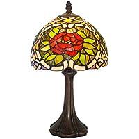 ZYCkeji Zart Retro Romantische Schlafzimmer Nachttischlampe Wohnzimmer Cafe Farbe Rose Glas Dekorative Tischlampe... preisvergleich bei billige-tabletten.eu
