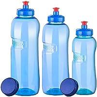 3x Original Kavo Drink Botella de tritano 100% Sin plastificantes en bajo Juego: 1x 1l (redondo), 1x 0,75litros (redondo), 1x 0,5l (redondo) + 3estándar Tapa + 3–Tapa (Push Pull)