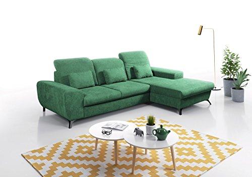 mb-moebel Ecksofa Eckcouch mit Bettkasten Sofa Couch L-Form Polsterecke Corse