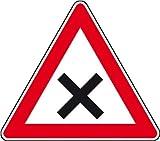 3795. Verkehrsschild nach StVO / Typ 1, Nr. 102 Kreuzung mit Vorfahrt von rechts Aluminium, Typ1,...