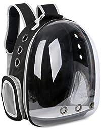 ZJEXJJ Espacio Transparente Mochila para Mascotas Perro Gato Mochila portátil Bolsa de (Color : Negro