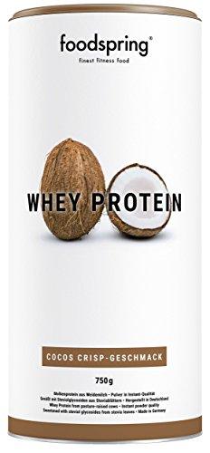 Das Wasser Der Kokosnuss-milch (foodspring Whey Protein Pulver, Cocos Crisp, 750g, Eiweißpulver zum Muskelaufbau, Hergestellt in Deutschland mit sorgfältig ausgewählten Rohstoffen)