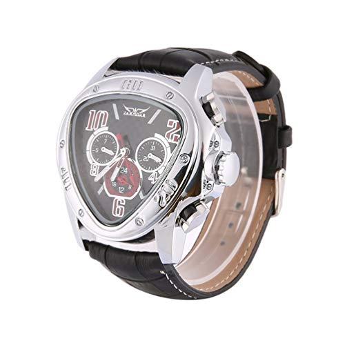 FCGV Reloj de Pulsera mecánico de Cuarzo Triangular para Hombres de Jaragar. Relojes para Empresas. Negro