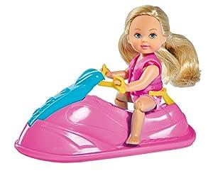 Simba- Evi con Moto de Agua 105733265 Muñeca con Accesorios, Multicolor