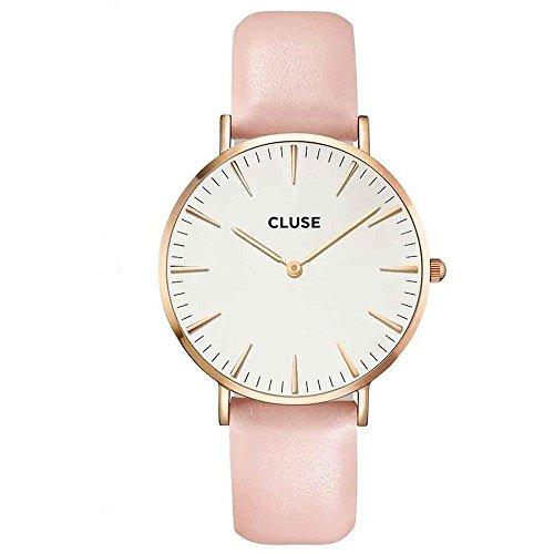 Cluse Damen-Armbanduhr Analog Quarz Leder CL18014