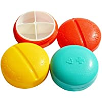 BestOfferBuy Kompakte Runde Pillen Box Organizer Vier Fächer Farbig preisvergleich bei billige-tabletten.eu