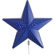 Ikea Smila stjärna lámpara de pared en color azul