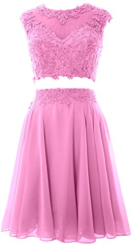MACloth - Robe - Trapèze - Sans Manche - Femme Small Rose
